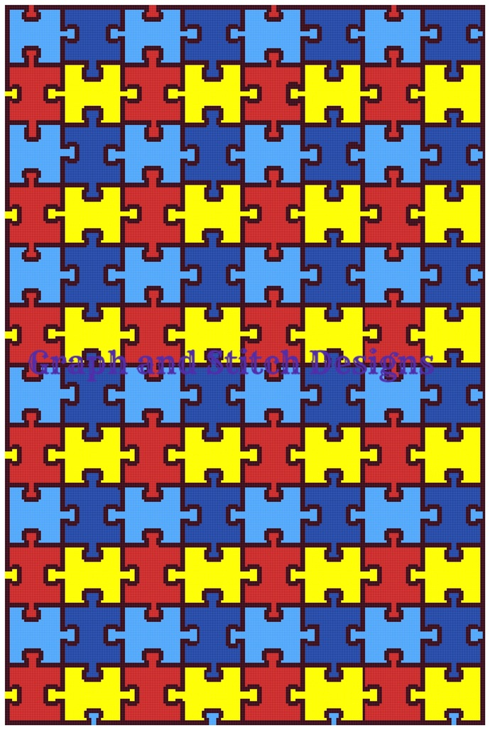 Autism pillow graph and written