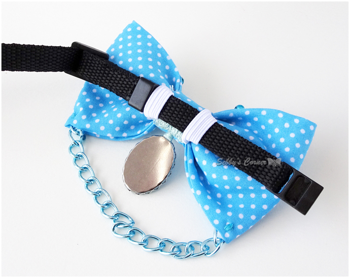 Feeling Blue Polka dot Bow Tie for Cats, Harajuku Pets, Pet Accessories, Photo
