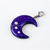 Sofia Crescent Moon Charm with Swarovski Crystals, Resin Jewelry, Charms for