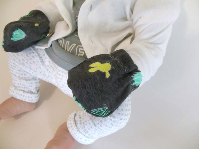 Swaddle Sack, Sleep Sack, Cocoon & Scratch Mittens in Cactus Print