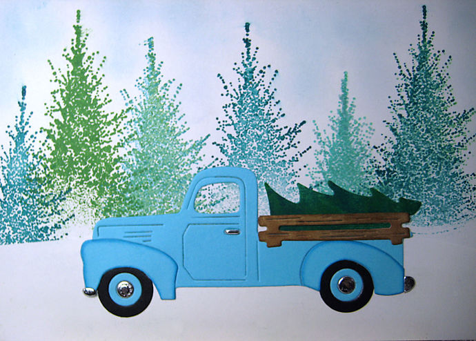 Truck with Tree Cutting Die, Pickup, Auto Dies Style #3