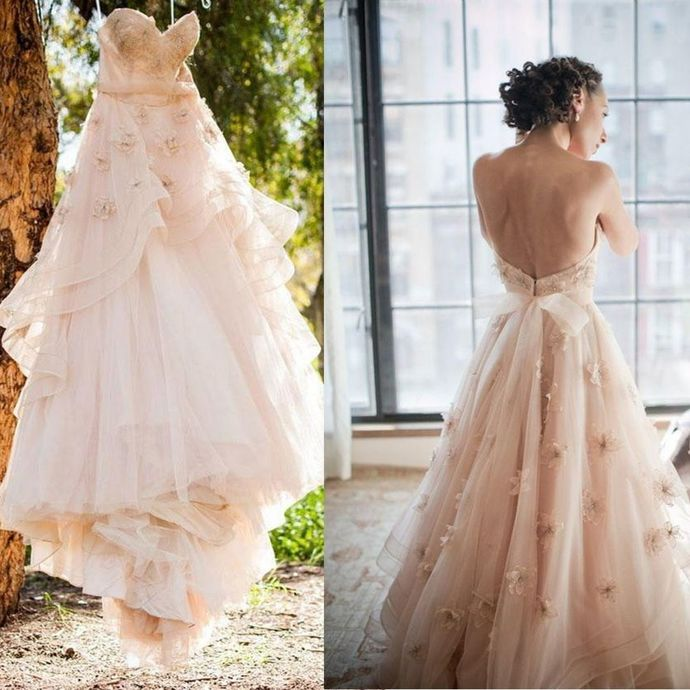 New Arrival Prom Dress,Tulle Prom Gown,A-Line Evening Dress,Appliques Prom Gown