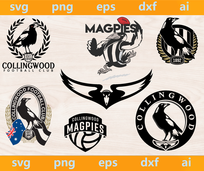 Collingwood Magpies logo, Collingwood Magpies svg, Collingwood Magpies png,
