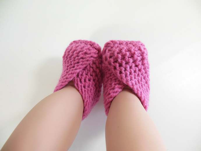 RTS Newborn Knit Booties, Socks, Slippers, Shoes in Green, Turquoise, Purple, or