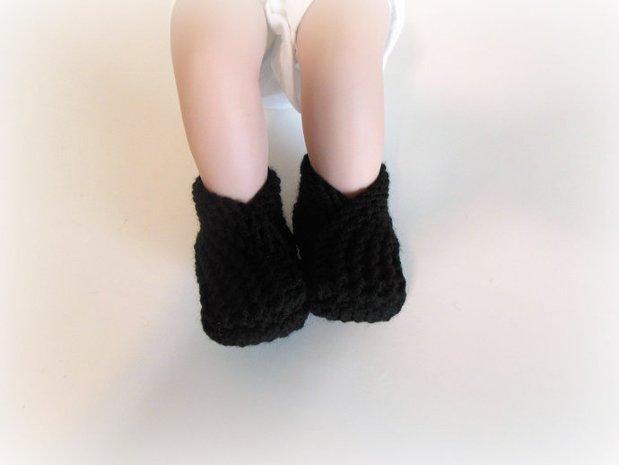 RTS Knit Infant Booties, Slippers, Socks, Shoes in Black, White, Gray, or Brown