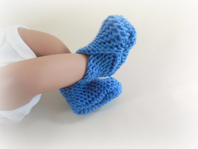 RTS Knit Infant Booties, Socks, Slippers, Shoes in Periwinkle Blue, Ocean, Sea