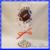 Kansas City Chiefs Football Girl Hand Painted Wine Glass