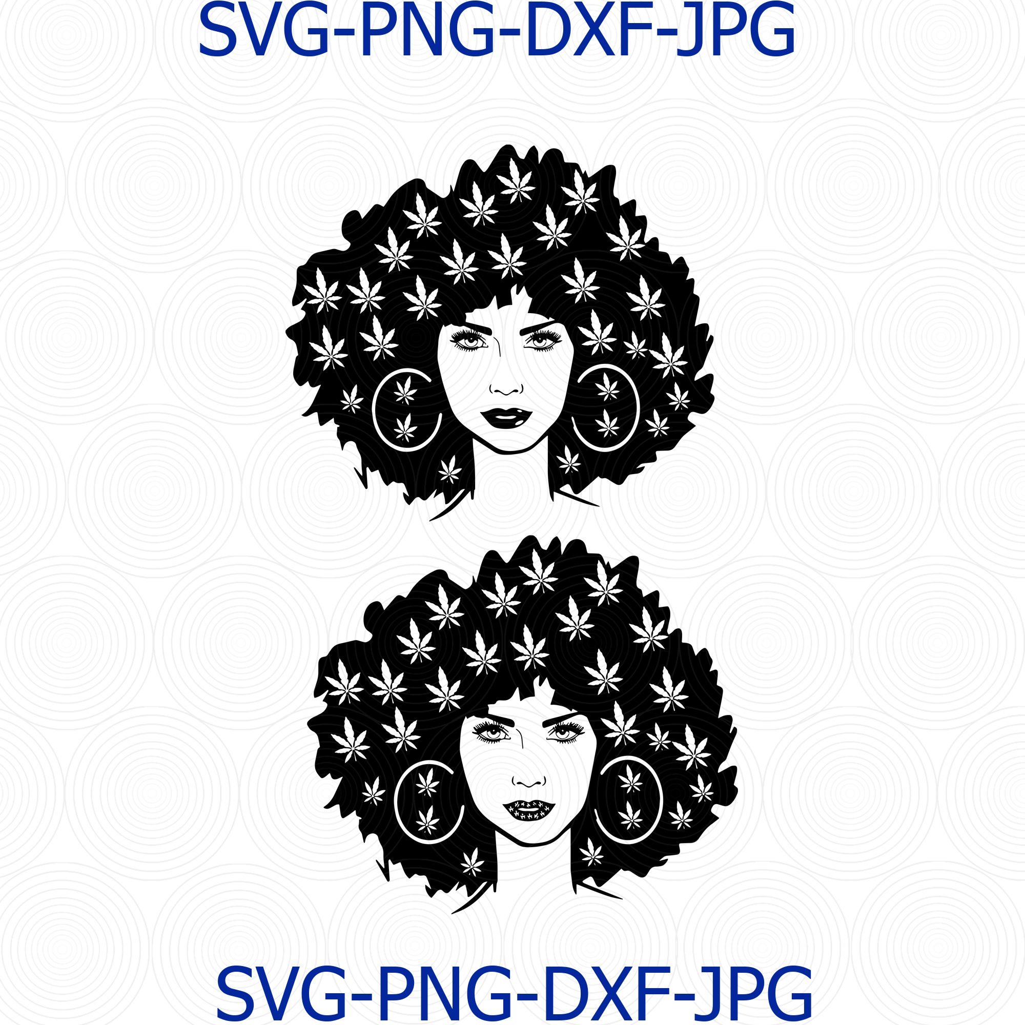 Marijuana Svg Beauty Girl Smoking Joint Svg One By Digital4u On