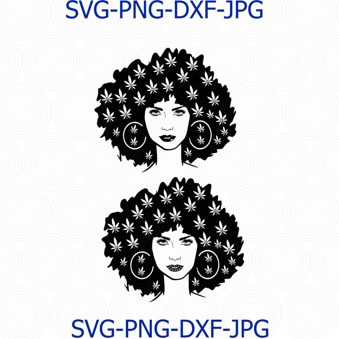 Marijuana SVG, Beauty Girl Smoking Joint svg One Love svg, Cannabis Ganja Pot
