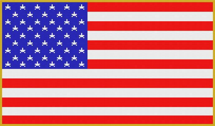American Flag Dc Crochet Pattern Blanket Afghan Row by Row Color Block