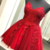 Elegant Tulle A Line Prom Dress, Spaghetti Straps Appliques Short Homecoming
