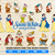 Snow White and The Seven Dwarfs SVG Bundle, Snow White Clipart, Vector Cut or