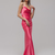 Pink Cowl Neck Silk Satin Slip Long Bridesmaid dress,  Cocktail Engagement Prom