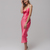 Pink Cowl Neck Silk Satin Slip Midi Bridesmaid Dress,  Cocktail Engagement Prom