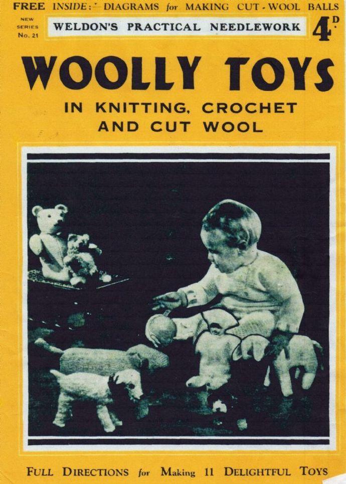 PDF Digital Download Vintage Knitting/Crochet Pattern Weldon's Eleven Woolly