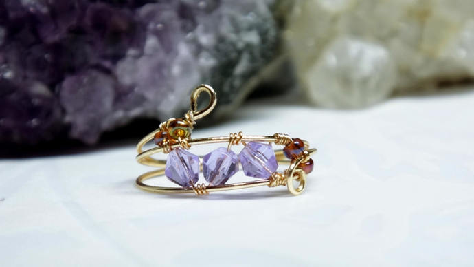 Thin Gold Wire Wrapped Ring, xmas gift ideas, Dainty Gold Ring, Delicate Gold