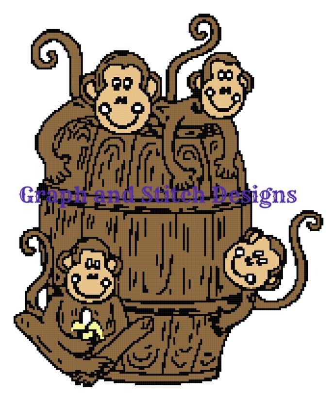 Barrel of Monkeys graph and written