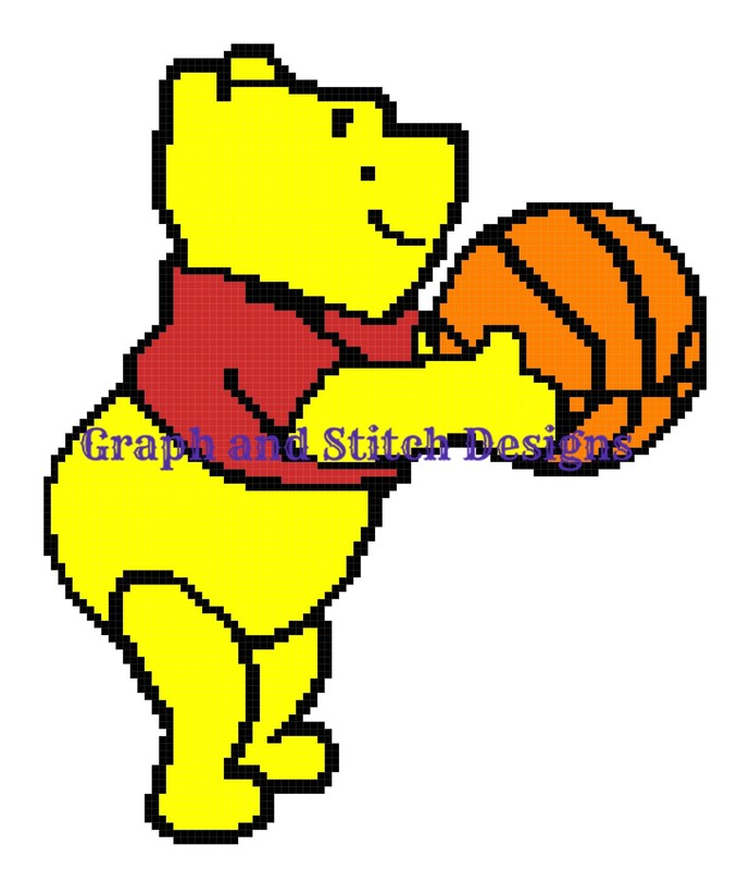 Basketball Pooh graph and written