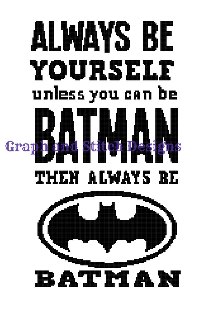 Batman saying graph and written