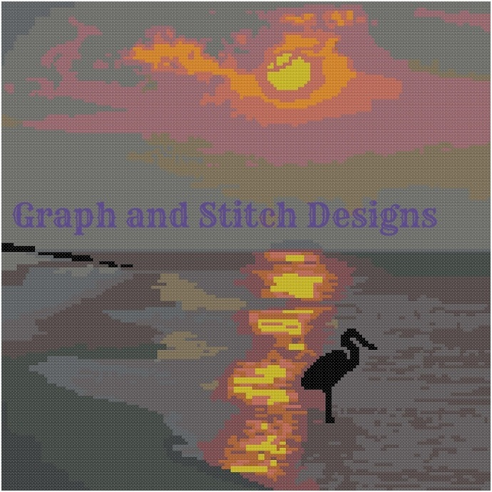 Beach Sunset graph and written