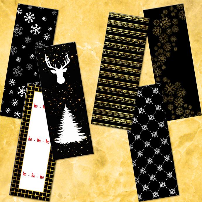 Christmas Bookmarks, Bookmarks Digital, Christmas Cards, Digital Printable,