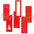 Red Images, Christmas Tree, Digital Printable, Digital Images, Instant Download,
