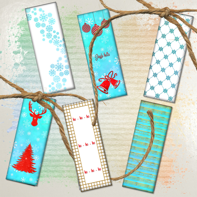 Winter Bookmarks,Christmas Tree Bookmarks,Bookmarks Printable,Download