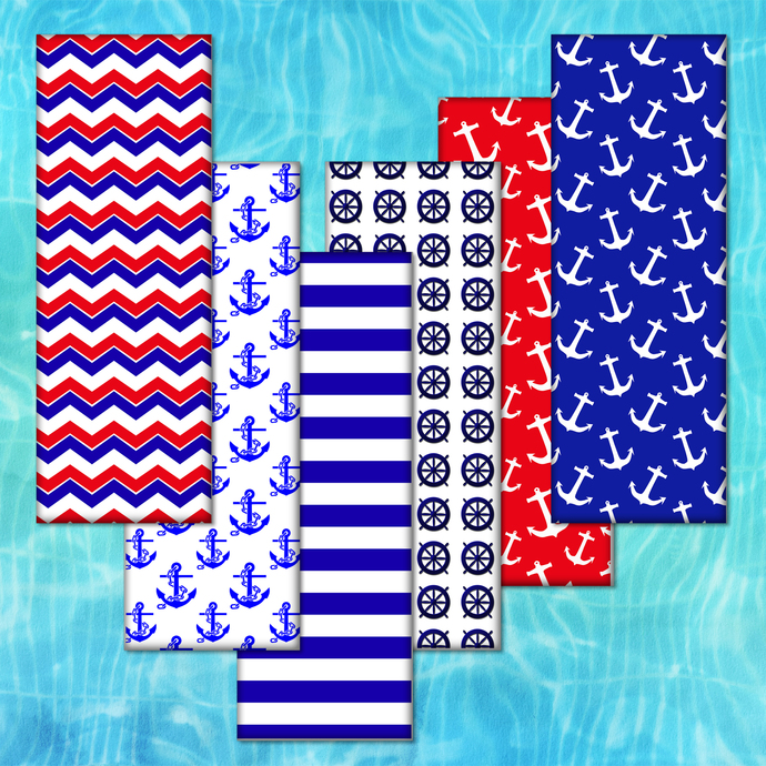 Digital Nautical,Nautical Papers,Nautical Colors,Bookmarks Nautical,Nautical