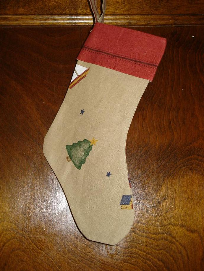 Small Christmas Stocking - Old Fashioned Toys