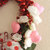 Red Mylar Heart Wreath with White Roses and Pink Hearts Wedding Valentine's Day