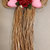 Dried Floral-Grass Bow wall hanging With Roses and Hearts Wedding Valentine's