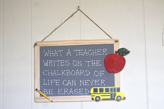 What a Teacher Writes on The Chalkboard of Life Can Never be Erased style 9