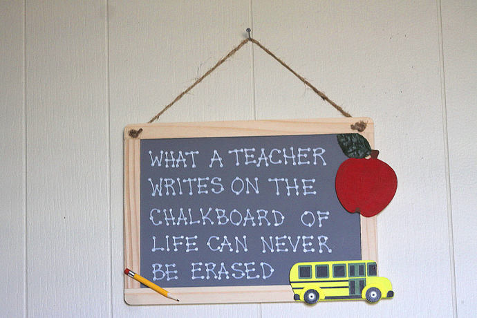 What A Teacher Writes On The Chalkboard Of Life Can Never Be Erased style 12