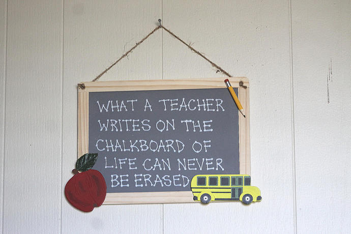 What a Teacher Writes on The Chalkboard of Life Can Never be Erased style 7