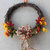 Fall Grapevine Wreath with asters and mums Harvest Autumn Thanksgiving 16 x 16