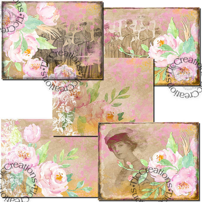Spring Fashion Digital Printable Junk Journal Kit Scrapbook
