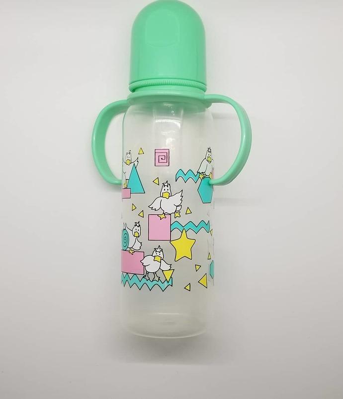 'Retro ducks' Adult Bottle with handles