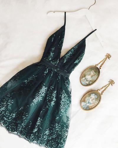 Cute Mini Appliques Party Dress, Sexy Short Cocktail Dress