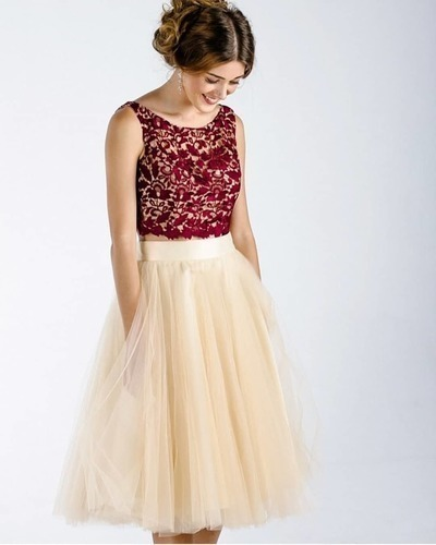 Elegant Tulle Short Homecoming Dress with Lace top