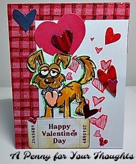 Happy Valentine's Day Handmade Valentine . Ready to Ship.