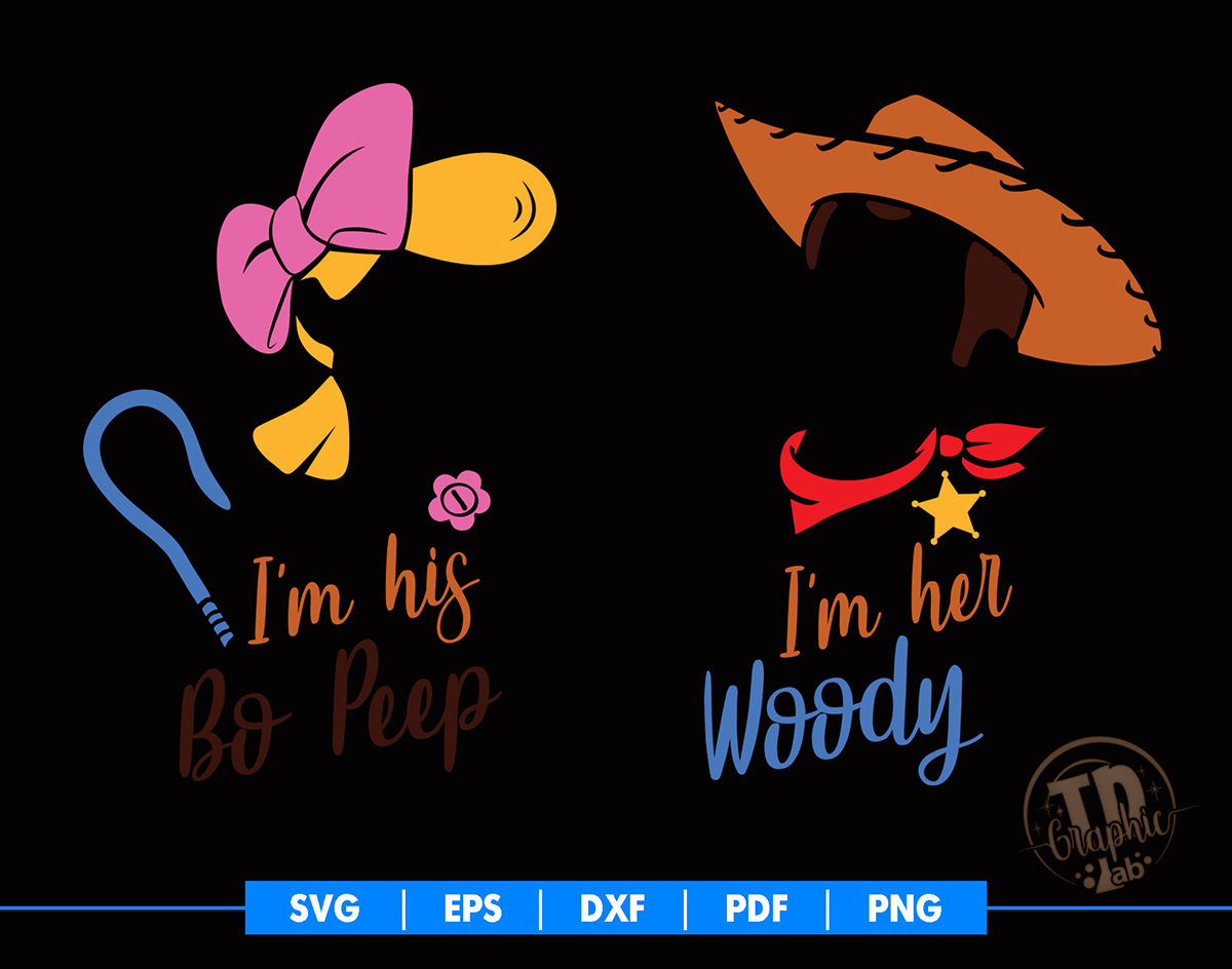 Bo Peep And Woody Svg Toy Story T Shirt By Tdgraphiclab On Zibbet