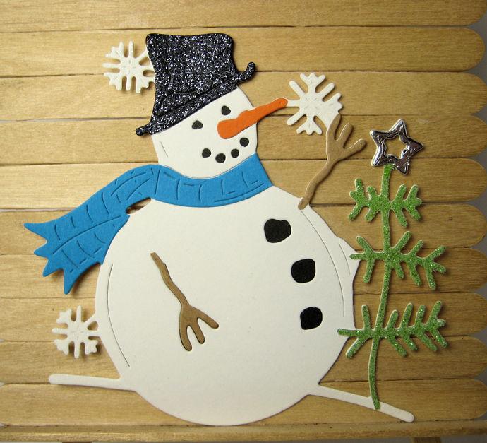 Snowman with Tree Cutting Die