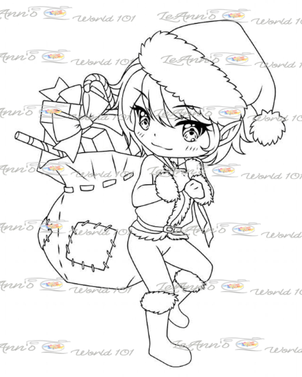 Santa's Helper - Digital Stamp