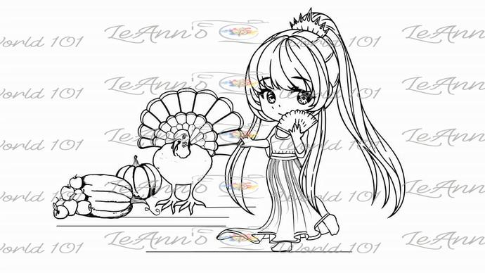 Thianna's Turkey Day - Digital Stamp