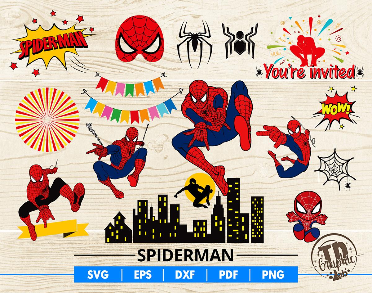 Spiderman Svg Bundle Spiderman Mask Cupcake By Tdgraphiclab On