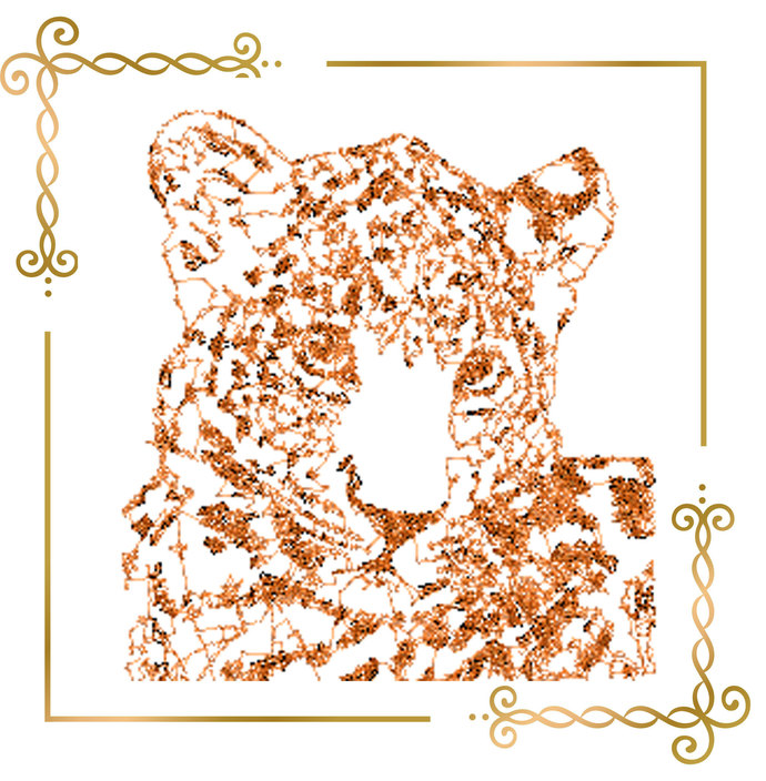 leopard embroidery design to the direct download.