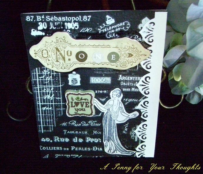 Nostalgic Love Handmade Valentine   Card