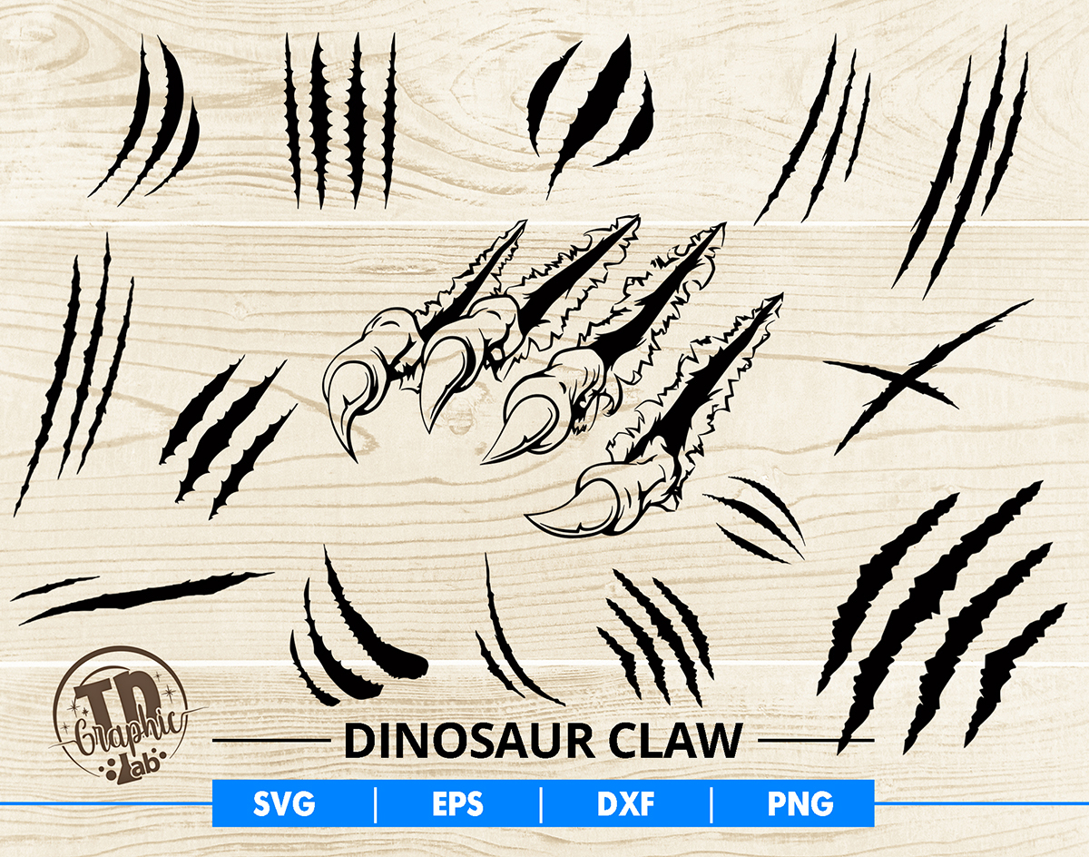 Dinosaur Claw Svg Bundle Claw Marks Vector By Tdgraphiclab On Zibbet