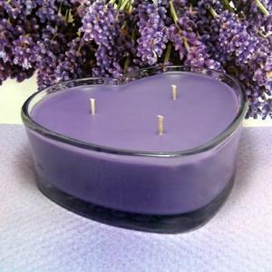Herbal Lavender and Lemongrass PURE SOY Heart Container Candle 16 oz.