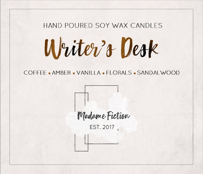 Writer's Desk - 8oz Candle - Writing Inspired - Scented Soy Candle - Book Lover